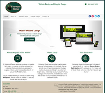 wildwood design responsive web site